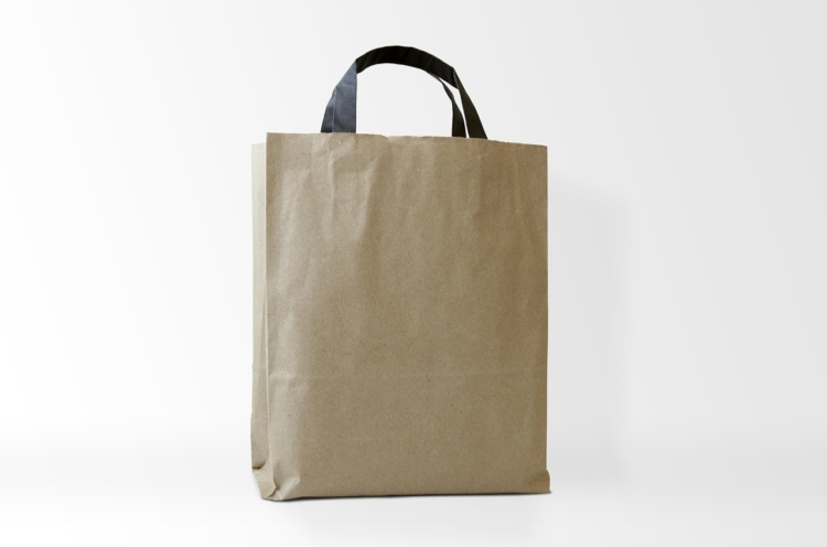 plain brown shopping bag with no logo