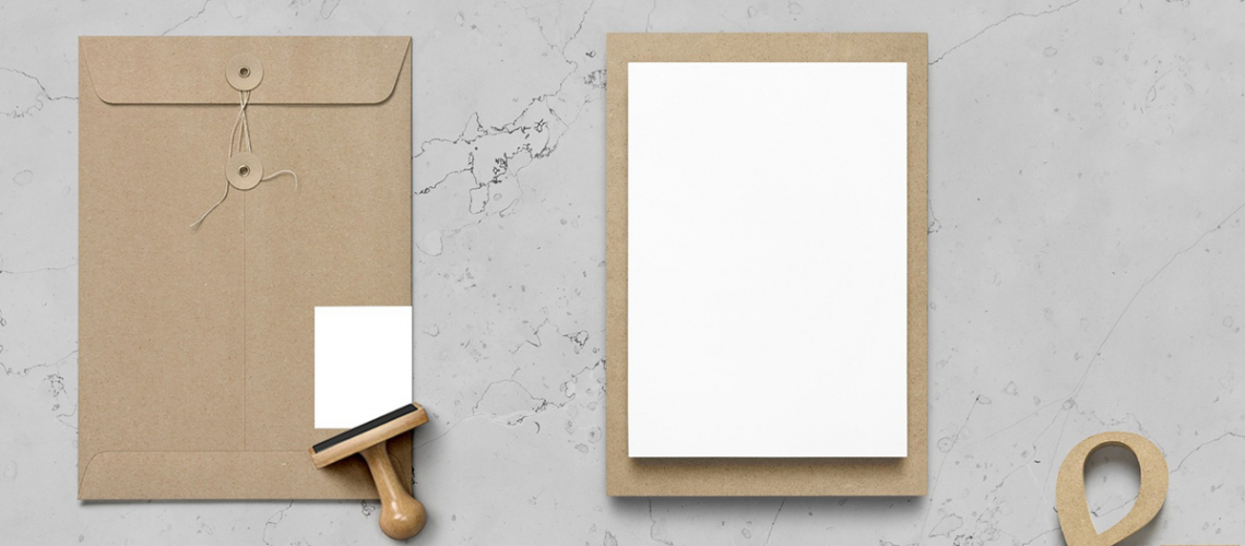 blank letterhead and envelope ready for branding